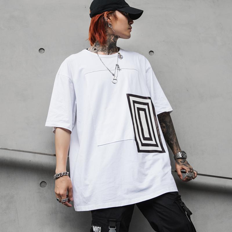 2019夏季男短袖T恤宽松国潮嘻哈网红同款bf原宿风男生 T399 P55