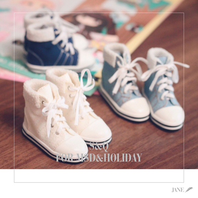 taobao agent Daily sports high-top canvas shoes BJD 1/4 1/6 Giant baby Xiongmei Salon Six-point baby shoes MDD
