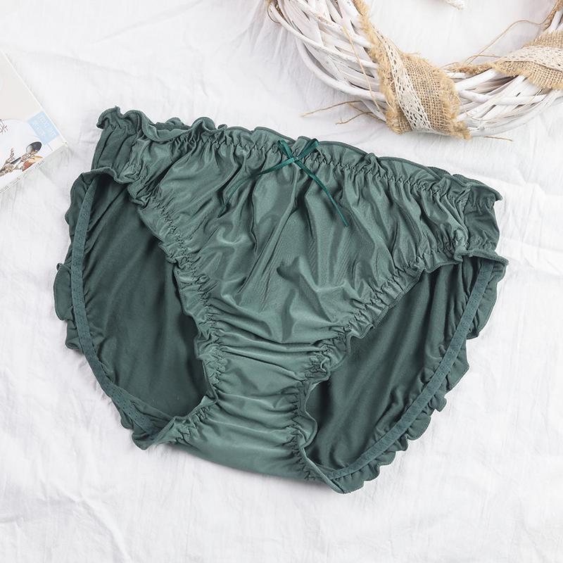 内裤女大码胖mm200斤高弹中腰冰丝女士无缝莫代尔舒适薄款三角裤