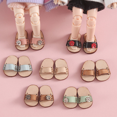 taobao agent ob11 baby shoes cowhide slippers sandals baby clothes holala GSC body shoes BODY9 12 points bjd