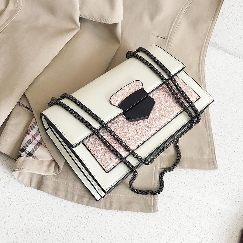 Популярный мисс мешки 2020 новый мода слой краски блестки плечо сумка дикий ins портативный маленький квадрат пакет 611059859773