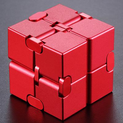 德国infinity cube无限魔方减压神器铝合金方块口袋手指解压玩具
