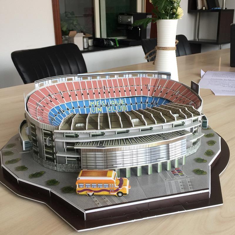 足球场3D拼装手工制作七夕情人节礼物送男友diy材料个性拼接