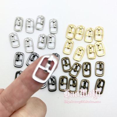 taobao agent Mini Japanese buckle bjd doll shoe buckle with needle lace metal silver inner diameter 6mm 2 yuan 6 pieces