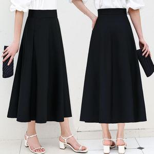 长裙半身裙女夏季a字伞裙装广场舞显瘦高腰蓬蓬裙大摆百褶裙子