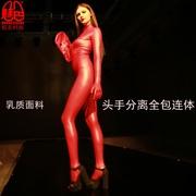 Màu sắc quyến rũ sexy cơ thể sexy latex đỏ amoniac mở miệng tất cả bao gồm cơ thể vớ nam giới và phụ nữ giai đoạn B04