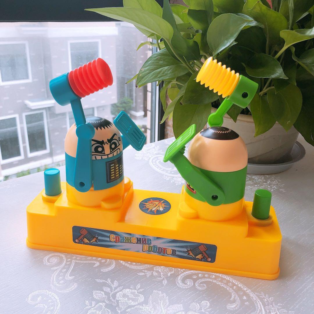 Trẻ em chiến đấu tấn công và phòng thủ nhân vật phản diện rung đôi đầu với cùng đồ chơi minion cha mẹ trò chơi tương tác máy chiến đấu - Trò chơi cờ vua / máy tính để bàn cho trẻ em