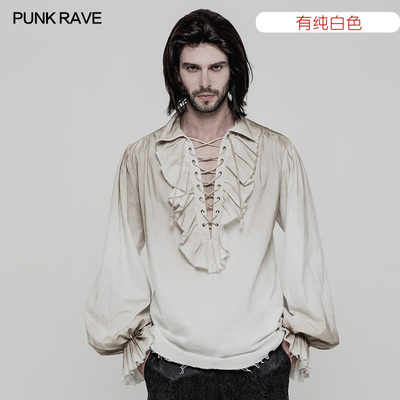 taobao agent Steampunk Shirt Retro Gothic French Medieval Palace Lolita Annual Meeting Men's Large Size Old Style