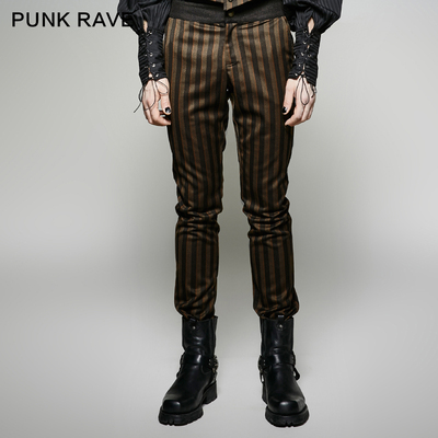 taobao agent *PUNK RAVE steampunk casual pants men's pants industrial metal punk clothing steampunk