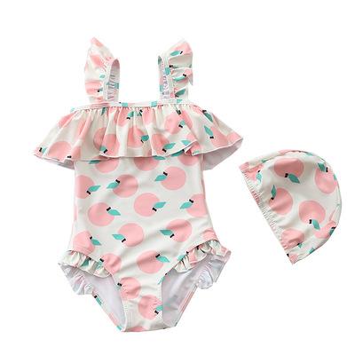 儿童泳衣女 连体泳装婴儿宝宝韩国女孩公主中小女童游泳衣ins