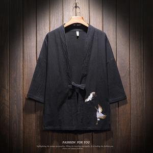 纯棉不退色刺绣中国风汉服开衫QT4018-M708-P60