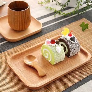 Nhà Nhật Bản tấm tấm gỗ món ăn bằng gỗ khay hộ gia đình sáng tạo khay gỗ món ăn tấm snack tấm