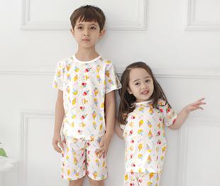 RainbowBus летний костюм пот домой хлопок мальчиков девочки короткий рукав домой одежда кондиционер установите нижнее белье пижама