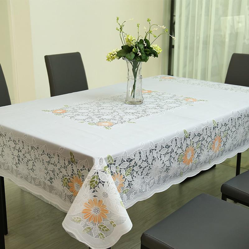 塑料桌布pvc防水防油免洗防烫餐桌垫客厅长方形茶几台布欧式圆桌