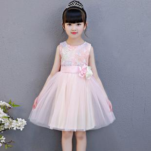 女童夏装洋气裙子小女孩超洋气公主裙纱裙儿童连衣裙宝宝彩虹裙仙