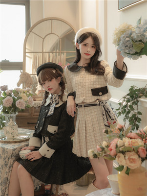 taobao agent 【To Alice】C6411 Original Life Skillful Story Tweed Jacket + Hip-covered Pleated Skirt