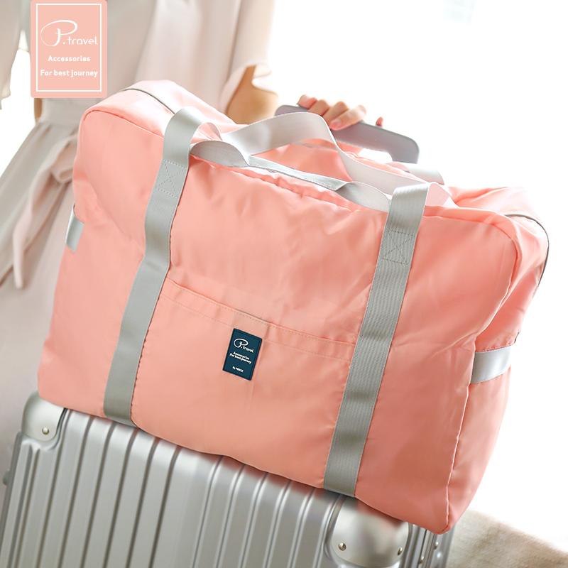 可折叠旅行包女手提包健身包大容量短途旅游包登机包旅行袋行李包