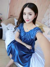 9038 夏季新款短袖大码睡衣孕妇装家居服睡裙