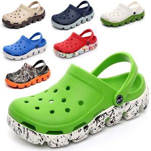 18 mùa hè mới dép mát mẻ của nam giới giày lỗ những người yêu thích giày bãi biển bình thường đáy dày không trượt baotou dép kích thước lớn
