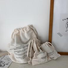实拍实价~韩国ins 超火 抽绳束口袋三件套 化妆品整理袋