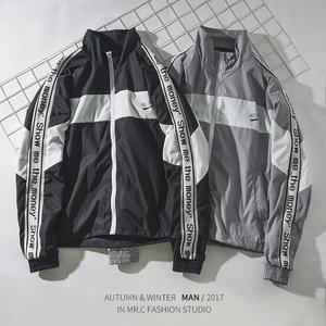 Ngắn nam áo gió 2017 mới đẹp trai Châu Âu và Mỹ đường phố áo gió nam hiphop hip hop áo triều thương hiệu phần mỏng