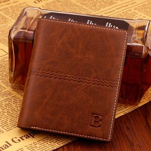 Retro mới của nam giới ví ngắn thời trang Hàn Quốc đa thẻ tiền dọc ví thanh niên mặt cắt ngang kinh doanh bình thường triều