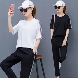 2019新款休闲学生套装女两件套潮韩版