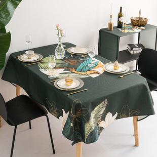 美式棉麻餐桌布藝ins防水桌布