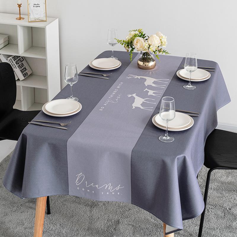 北欧现代简约ins长方形书桌布餐桌布