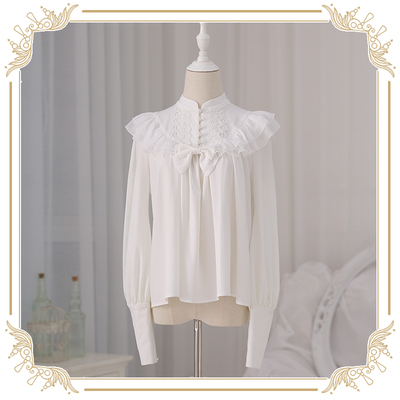 taobao agent 【Spot goods】ChaCha Little Love Song & Japanese Love and Death Lolita Originally Founded Lamb Leg Sleeve Shirt