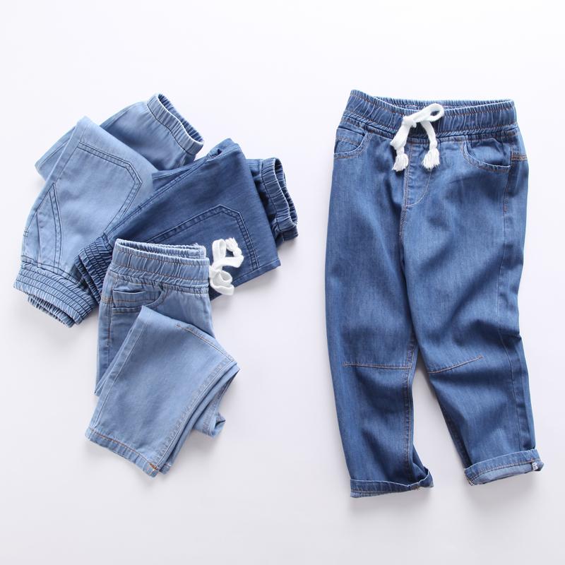 Quần áo trẻ em jeans trẻ em quần muỗi 2018 mới mùa xuân và mùa thu quần lỏng quần âu nam mùa hè quần mỏng