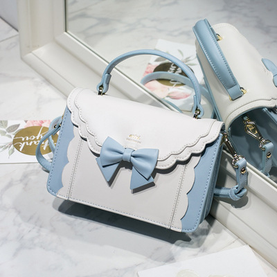 taobao agent Spot goods! 2019 new bow organ small square bag lolita one-shoulder messenger female soft girl campus lace style
