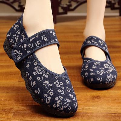 和韵祥老北京布鞋女士特大码女鞋41一43帆布女夏宽脚肥脚老年夏季