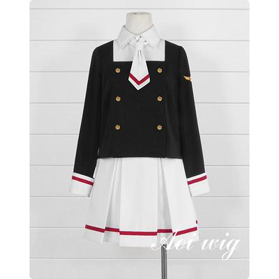 taobao agent AOI Card Girl Sakura Kinomoto Sakura Chiyo Junior High School Uniform School Uniform Cosplay Costume