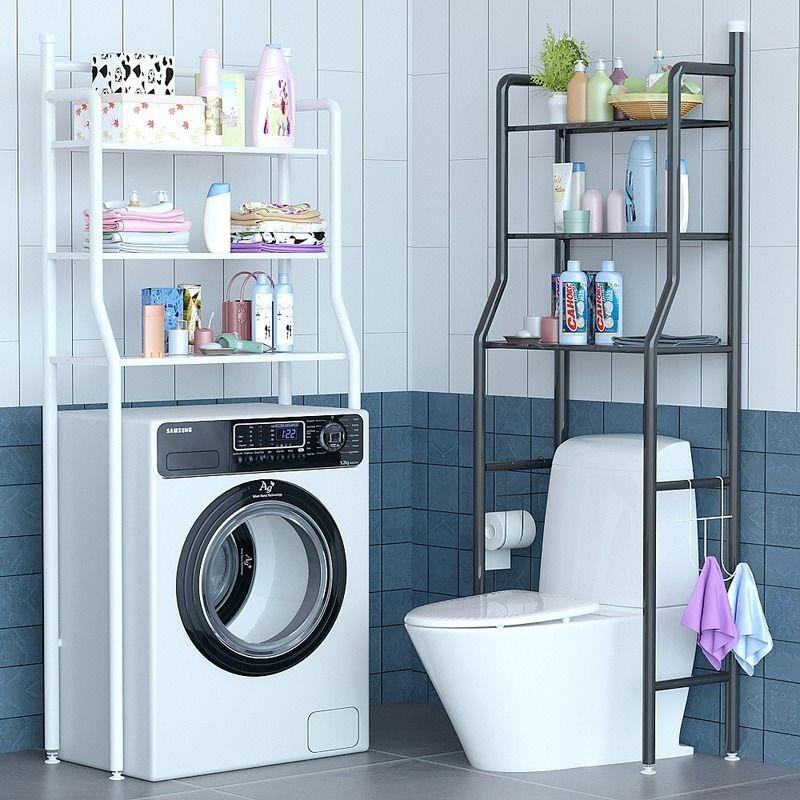 卫生间免打孔置物架浴室收纳架洗手间