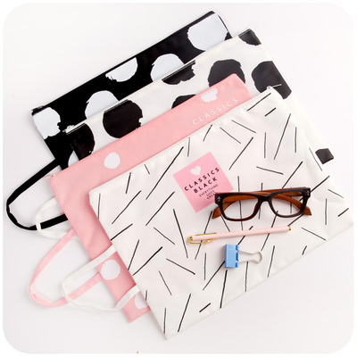 A4 Handheld Canvas File Bag Korean Student Small Test Paper Storage Bag