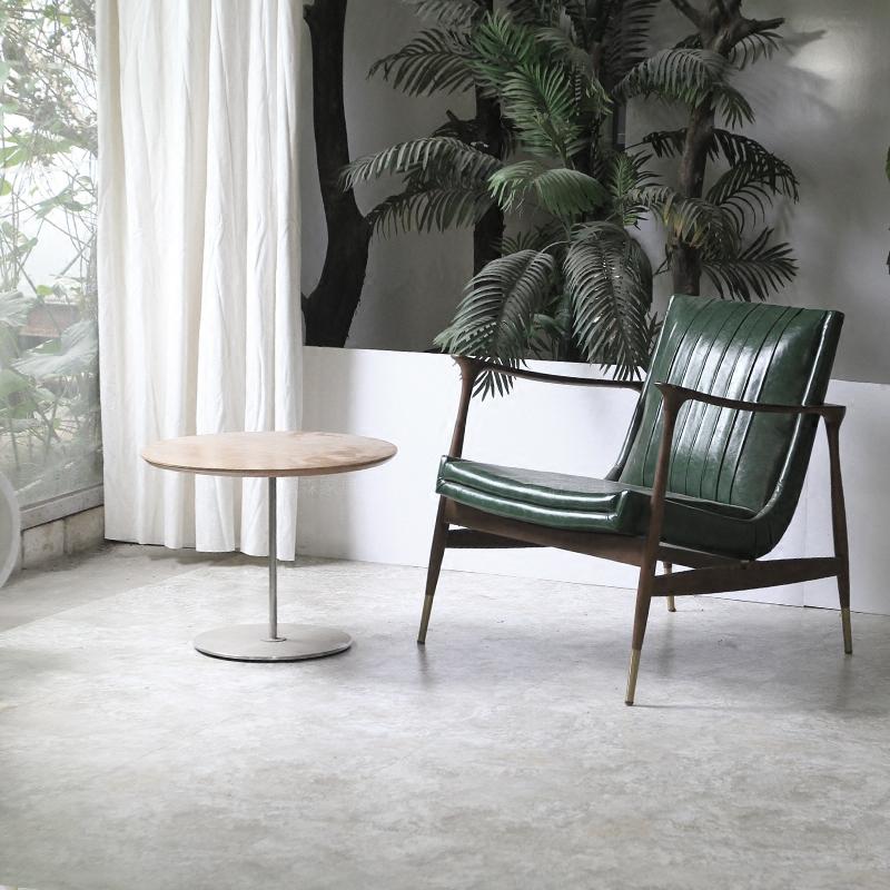 Bắc âu gỗ rắn ghế ngồi có thể ngả thiết kế nội thất Bắc Âu ghế gỗ rắn ghế da nghệ thuật da giải trí ghế Milan ghế