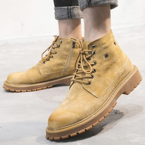 Mùa hè Martin khởi động của nam giới giúp Người Anh Hàn Quốc phiên bản của xu hướng của khởi động hoang dã giúp đỡ cao dụng cụ giày mùa hè thoáng khí khởi động