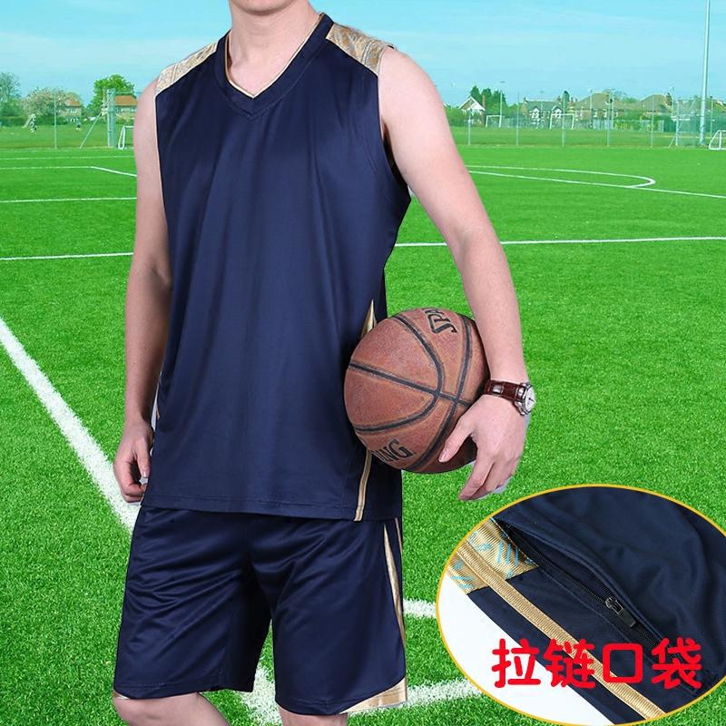 Thể thao phù hợp với nam giới không tay quần short đào tạo khô nhanh quần áo tập thể dục mùa hè phần mỏng mồ hôi thấm thở chạy quần áo bóng rổ quần áo