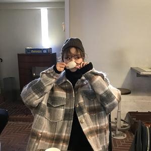 [ELINASEA] Xiaohai homemade 2017 Hàn Quốc phiên bản của ve áo cổ điển ve áo đơn ngực ấm áo len nữ