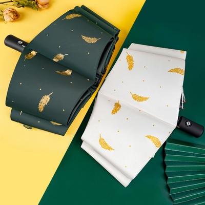 全自动雨伞折叠晴雨两用伞男女大号黑胶防晒太阳伞防紫外线遮阳31