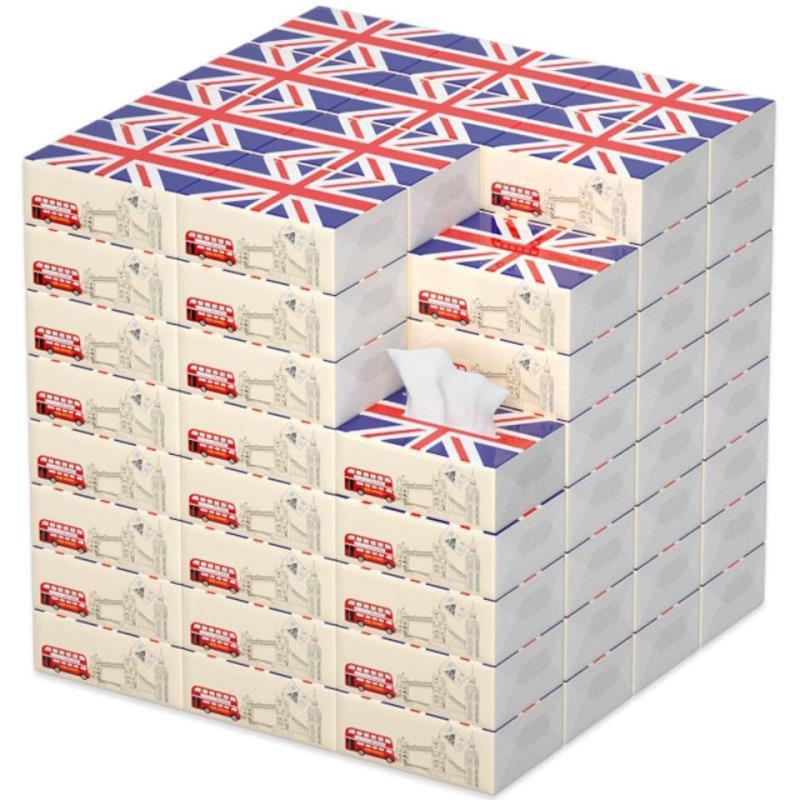 【60包】抽纸木浆檫手卫生纸家用