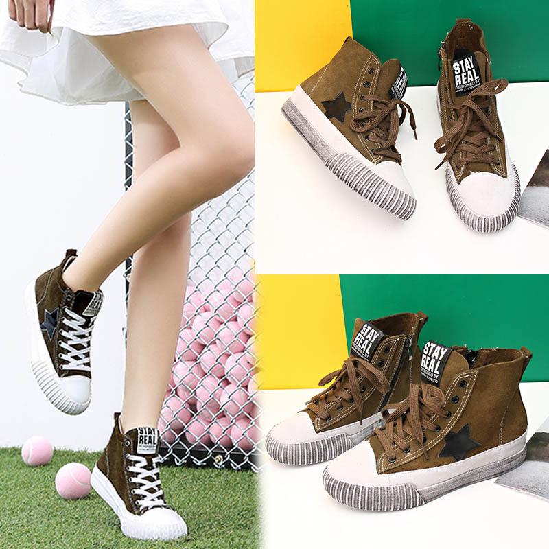 Da bò đầy đủ! Giày da cao cấp chính hãng Giày sinh viên Hàn Quốc phù hợp với tất cả những đôi giày bẩn nhỏ thời trang ren Giày nữ ngắn làm đôi giày cũ - Giày cao gót