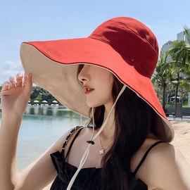 渔夫帽女遮阳帽春夏季韩版潮日系双面遮