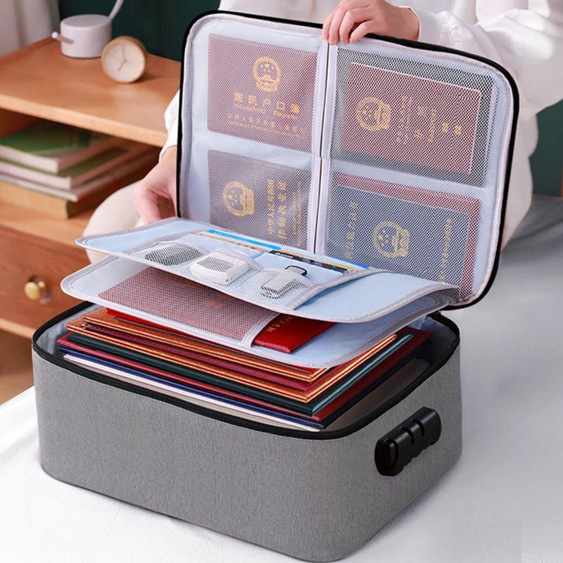 加厚证件收纳包大容量多功能箱护照整理袋