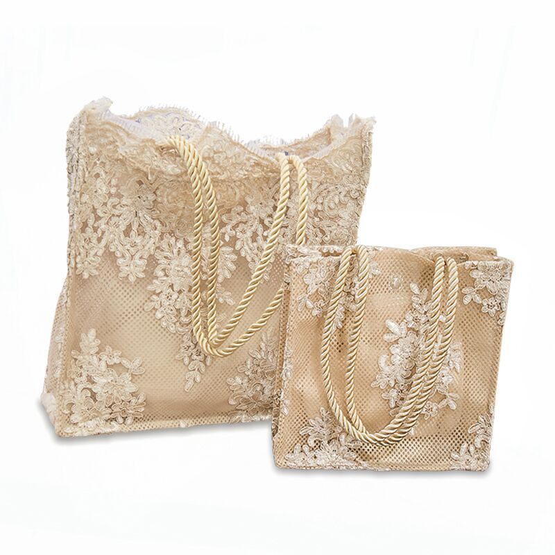 蕾丝包女2019新款手提包购物袋镂空沙滩包复古刺绣单肩包女包手袋