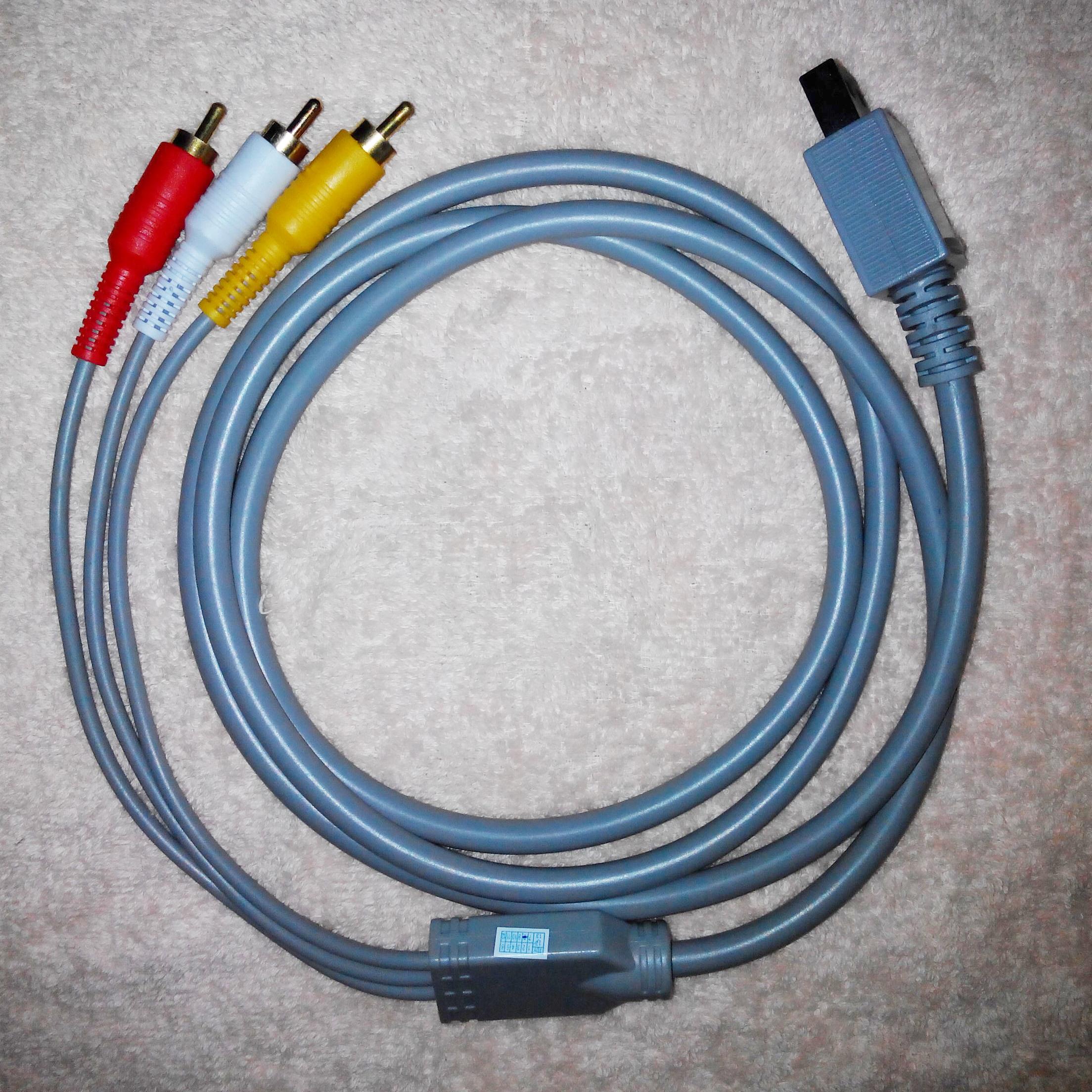 Máy chủ bảng điều khiển trò chơi Nintendo Wii somatosensory và video kết nối TV Cáp AV - WII / WIIU kết hợp