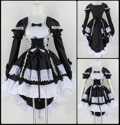taobao agent Cosplay angel love princess dress cute maid costume black and white maid costume anime costume tuxedo skirt