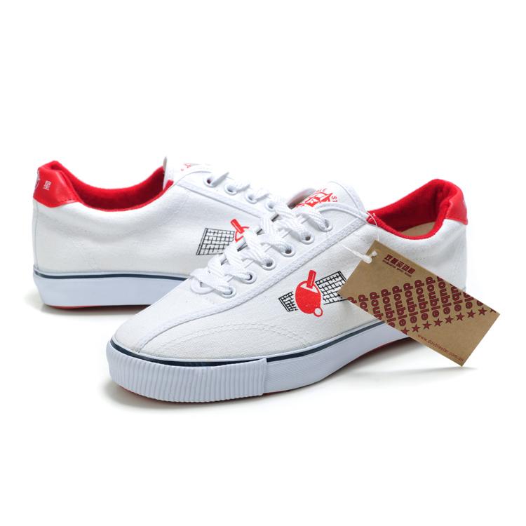 Đúp sao đích thực trắng canvas table tennis giày đào tạo chuyên nghiệp giày thể thao nam giới và phụ nữ giày trọng lượng nhẹ thoáng khí hấp thụ sốc
