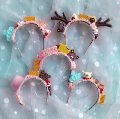 taobao agent Yosd bjd salon doll cream headband 4 points 6 points 3 points can be customized 1/4 1/6 candy deer headwear